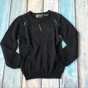 Organically grown beaded sweater